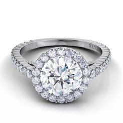 Danhov Carezza Award Winning Engagement Ring in 14k White Gold