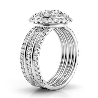 Danhov Couture Luxury Diamond Engagement Ring in 14k White Gold