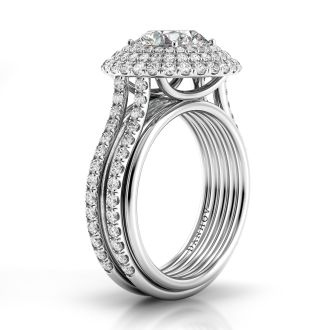 Danhov Couture Couture Engagement Ring in 14k White Gold