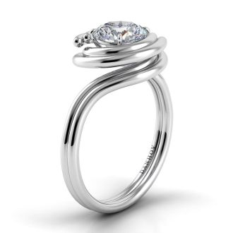 Danhov Abbraccio Engagement Ring in 14k White Gold