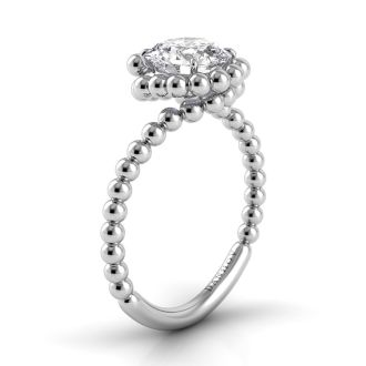 Danhov Abbraccio Designer Engagement Ring in 14k White Gold
