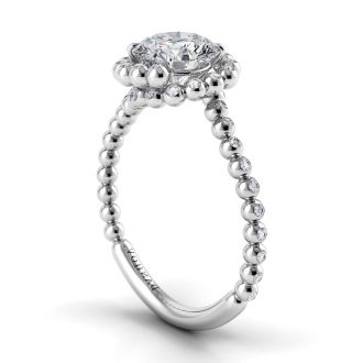 Danhov Abbraccio  Swirl Diamond Ring in 14k White Gold