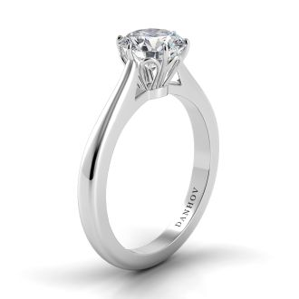 Danhov Classico Solitaire Engagement Ring Setting in 18k White Gold