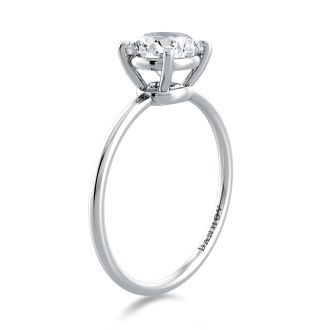 Danhov Classico Handmade Engagement Ring in 14k White Gold