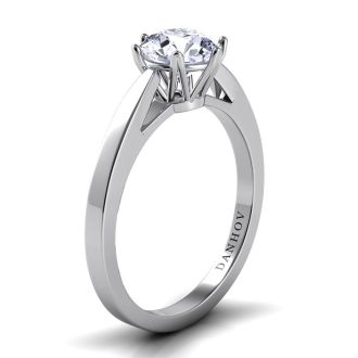 Danhov Classico  One of a Kind Engagement Ring in 18k White Gold