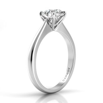 Danhov Classico Timeless Engagement Ring in 14k White Gold