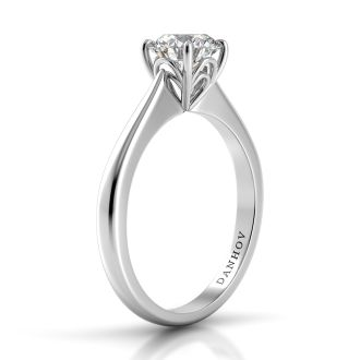 Danhov  Classico Solitaire Engagement Ring in 18k White Gold