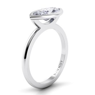 Danhov Per Lei Marquise Engagement Ring in 18k White Gold