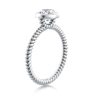 Danhov Per Lei  Solitaire Engagement Ring Design in 14k White Gold