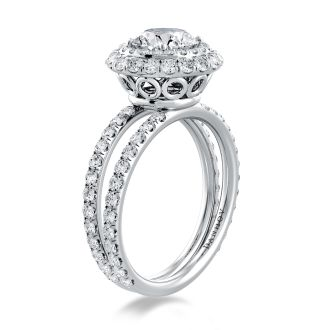 Danhov Solo Filo Exclusive Engagement Ring in 14k White Gold