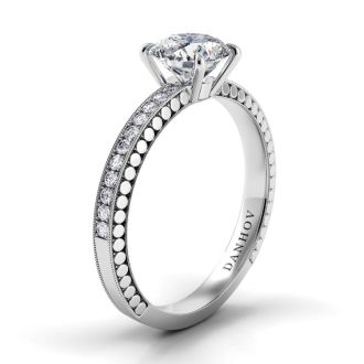 Danhov Tubetto One of a Kind Engagement Ring in 14k White Gold