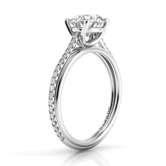 Danhov Unito  Engagement Ring for Her in 14k White Gold