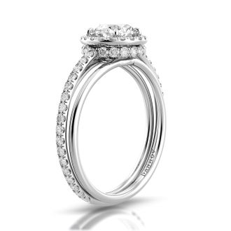Danhov Unito Handcrafted Engagement Ring in 14k White Gold