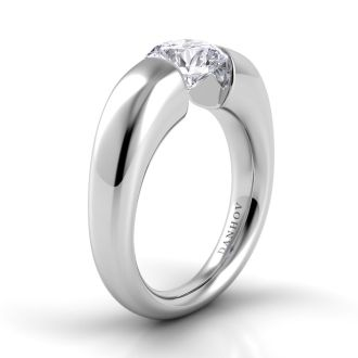 Danhov Voltaggio Tension Engagement Ring in 14k White Gold