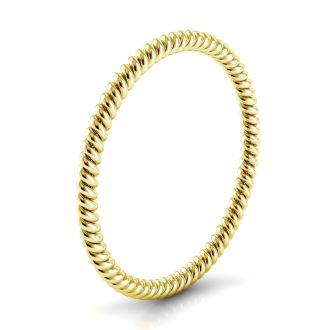Danhov Eleganza  Braided Wedding Band for Her in 14k Yellow Gold