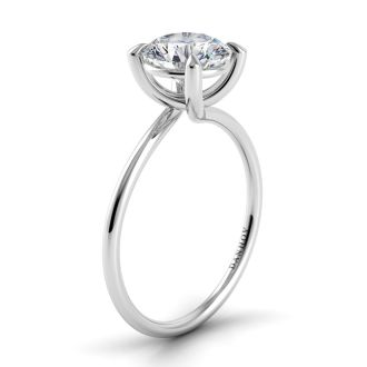 Danhov Eleganza Designer Engagement Ring in 14k White Gold