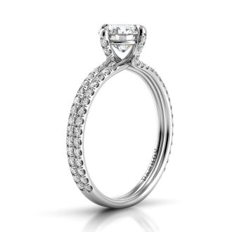 Danhov Eleganza Unique Handmade Engagement Ring  in 14k White Gold