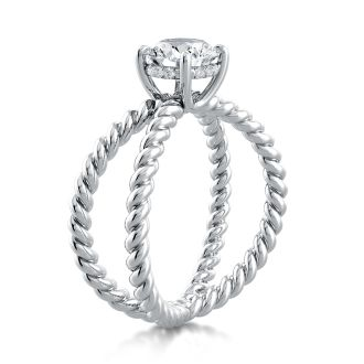 Danhov Eleganza  One of a Kind Engagement Ring in 14k White Gold