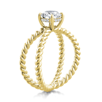 Danhov Eleganza  One of a Kind Engagement Ring in 18k Yellow Gold
