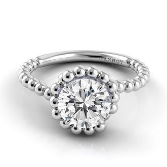 Danhov Abbraccio Designer Engagement Ring in 14k White Gold