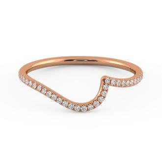 Danhov Abbraccio Curved Diamond Band in 14k Rose Gold