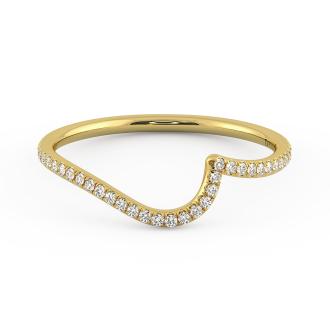 Danhov Abbraccio Curved Diamond Band in 18k Yellow Gold