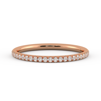 Danhov Classico  Rose Gold Wedding Ring for Women in 18k Rose Gold