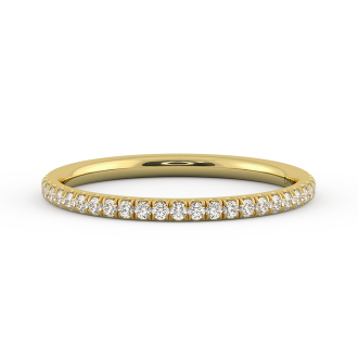 Danhov Classico  Rose Gold Wedding Ring for Women in 18k Yellow Gold