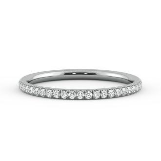 Danhov Classico  Rose Gold Wedding Ring for Women in 18k White Gold
