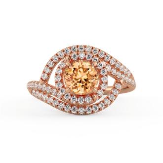 Diamond Engagement Ring in 14k Rose Gold