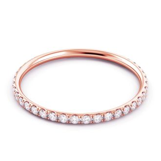 Danhov Classico  Rose Gold Wedding Ring for Women in 14k Rose Gold