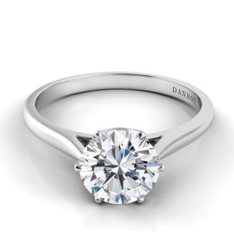 Danhov Classico Modern Engagement Ring  in 14k White Gold