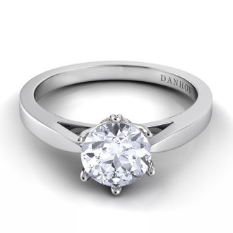 Danhov Classico  One of a Kind Engagement Ring in 14k White Gold