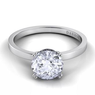 Danhov Classico Diamond Engagement Ring in 18k White Gold