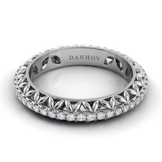 Danhov Petalo Diamond  Band in 14k White Gold