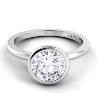 Danhov Per Lei Handmade Designer Engagement Ring in 14k White Gold