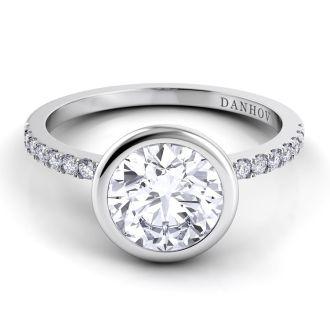 Danhov Per Lei Designer Engagement Ring in 14k White Gold