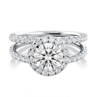 Danhov Solo Filo   Engagement Ring Halo Setting in 14k White Gold