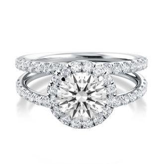 Danhov Solo Filo   Engagement Ring Halo Setting in 14k White Gold