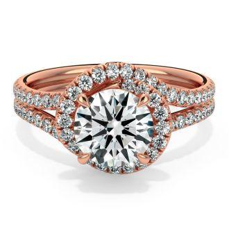 Danhov Abbraccio Engagement Ring in 18k Rose Gold