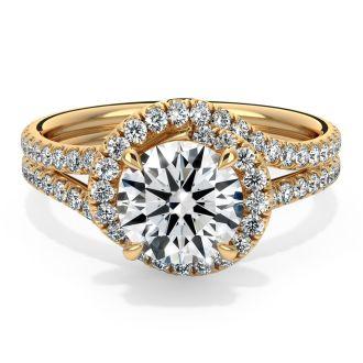 Danhov Abbraccio Engagement Ring in 14k Yellow Gold