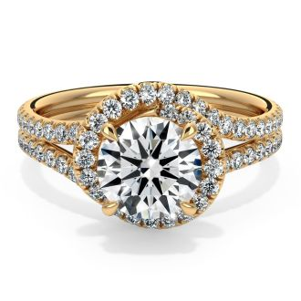 Danhov Abbraccio Engagement Ring in 18k Yellow Gold