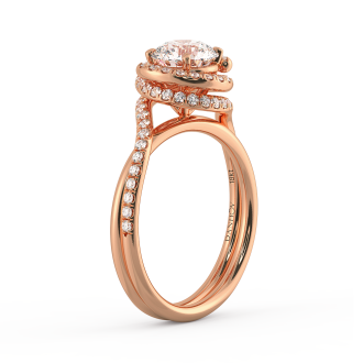 Danhov Abbraccio Ring in 14k Rose Gold
