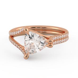 Danhov Solo Filo Engagement Ring in 14k Rose Gold