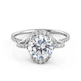 Danhov Solo Filo Designer Diamond Engagement Ring in 14k White Gold