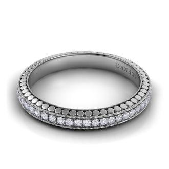 Danhov Tubetto Wedding Ring for Her in 14k White Gold