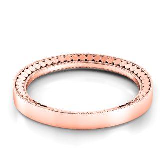 Danhov Tubetto Rose Gold Wedding Ring for Women in 14k Rose Gold