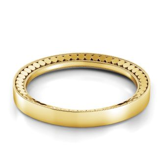 Danhov Tubetto  Yellow Gold Wedding Band  in 14k Yellow Gold