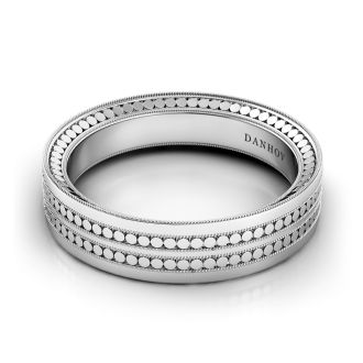 Danhov Tubetto  Award Winning Wedding Ring for Men in 14k White Gold