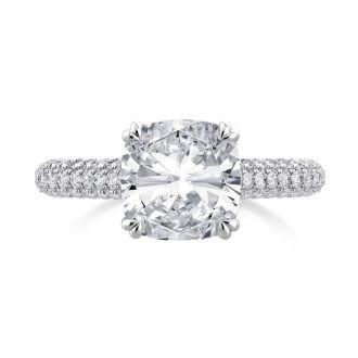 Danhov Classico Diamond Engagement Ring in 14k White Gold